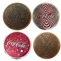 Monedas Coca juntas