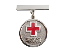 PIN MEDALLA CRUZ ROJA NIQUEL BRILLANTE