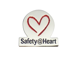 PIN SAFETY HEART